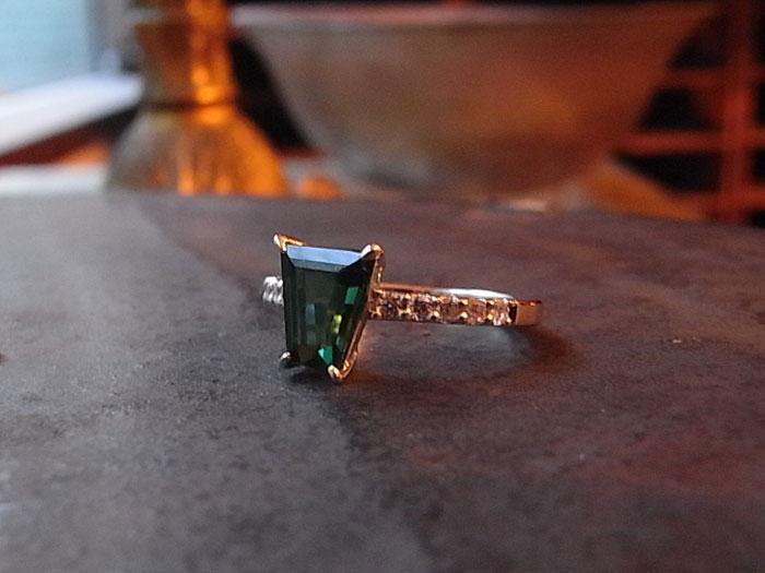 グリーントルマリン 指輪