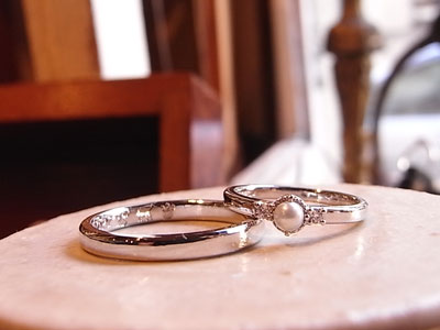 真珠 結婚指輪
