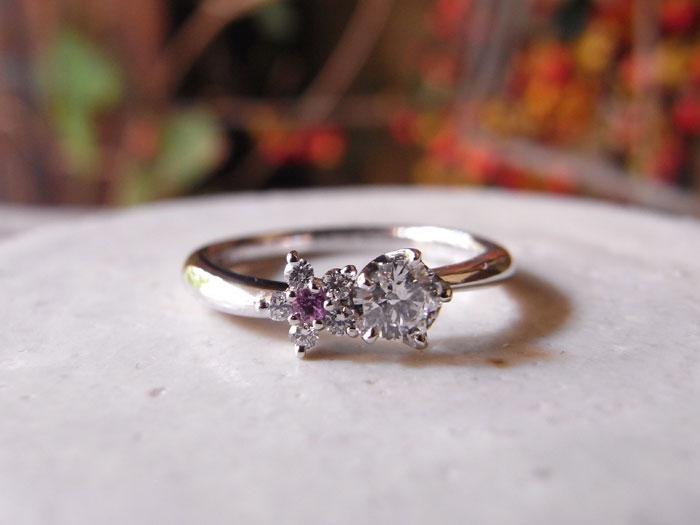 婚約指輪 ピンク