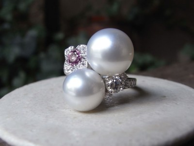 真珠 指輪 オーダー