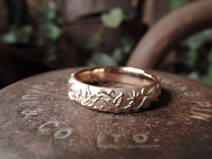 鳥 結婚指輪
