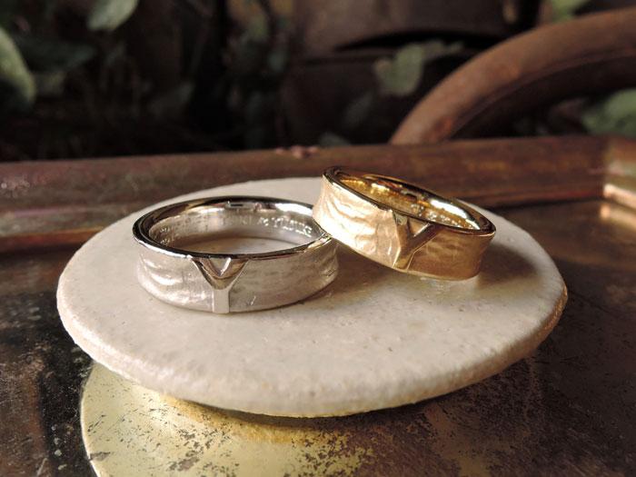 イニシャル 結婚指輪