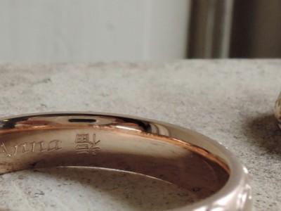 刻印 漢字 指輪