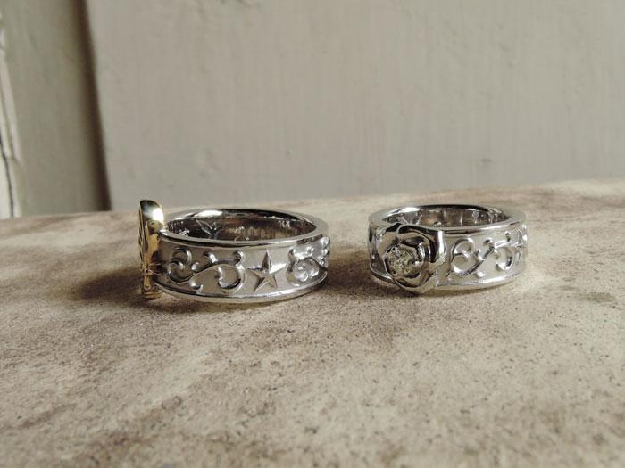 唐草 星 結婚指輪