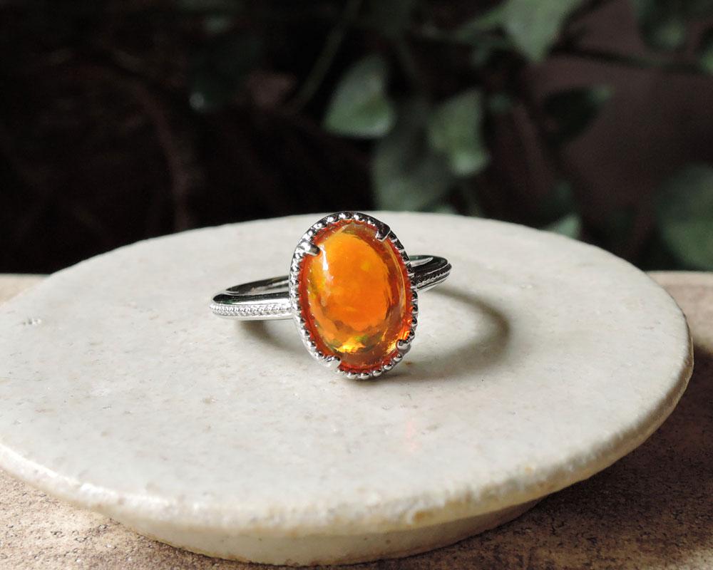 メキシコオパール 指輪 リフォーム