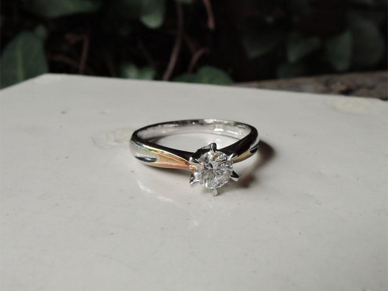 ダイヤ 指輪 リフォーム前