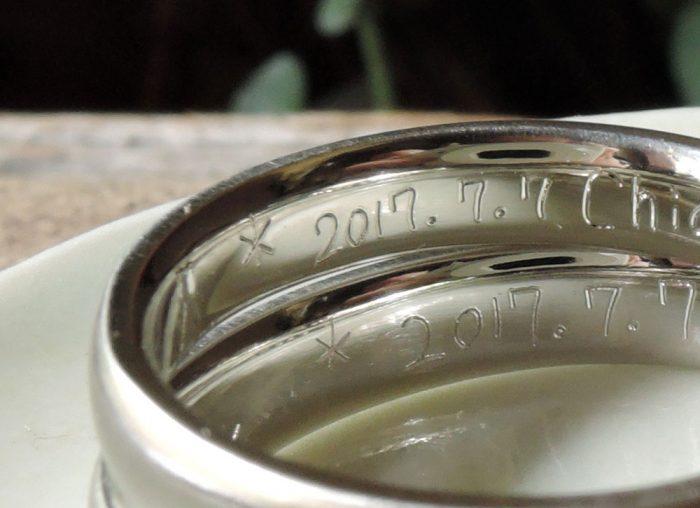 刻印 手描き 結婚指輪