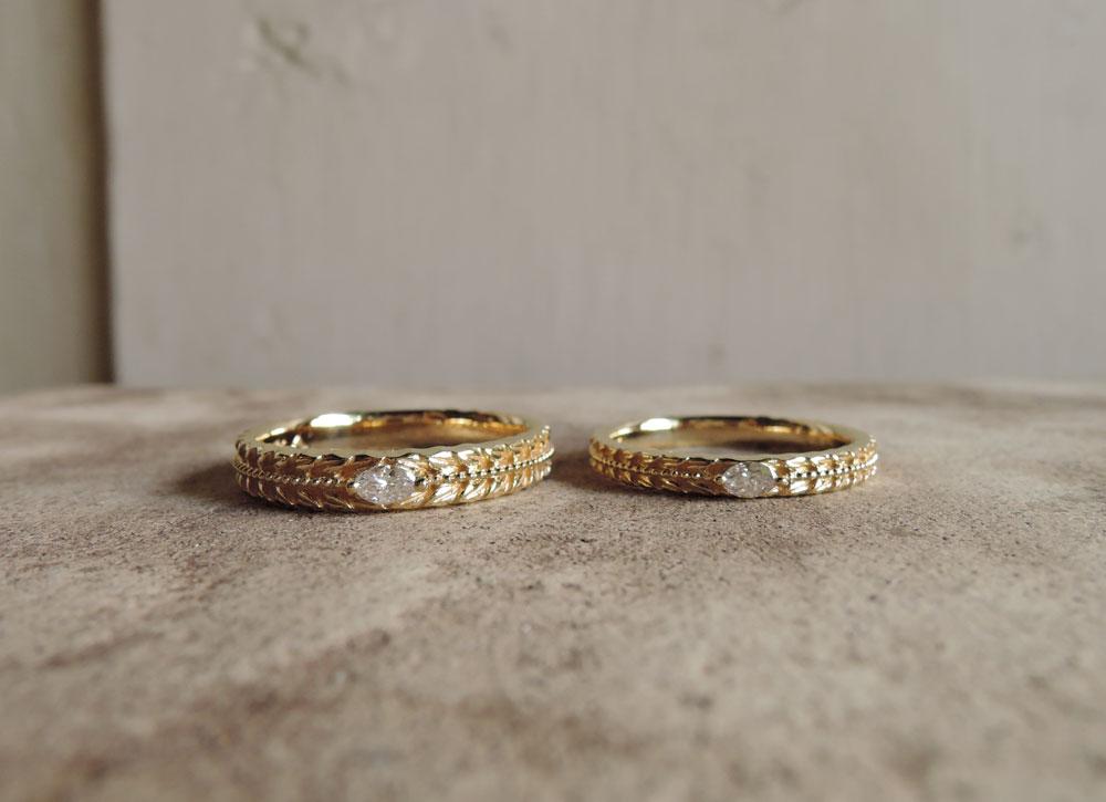 マーキスダイヤ 結婚指輪