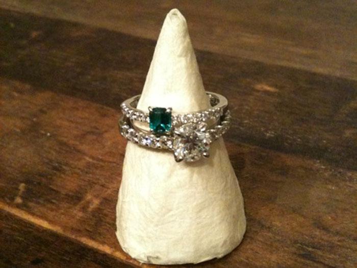 エメラルド ダイヤ 指輪