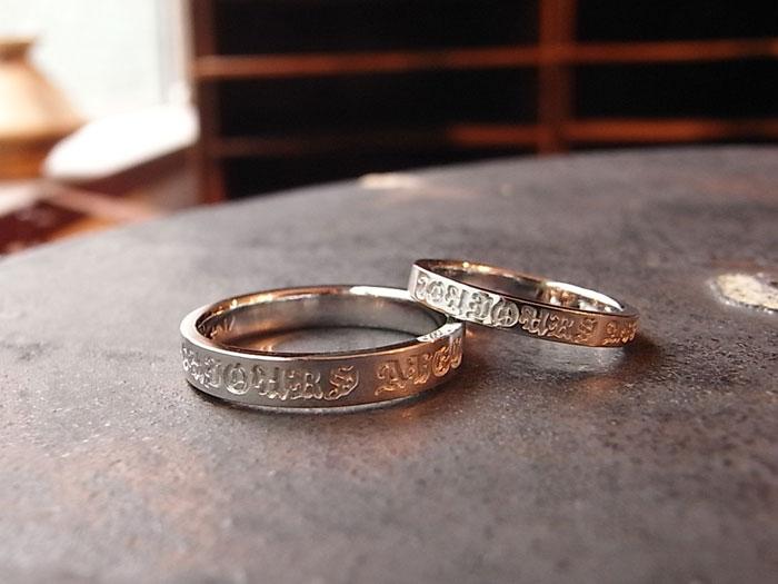 ゴシック 結婚指輪