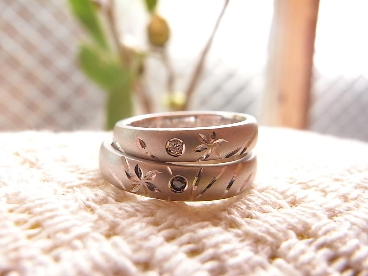 彫り 結婚指輪