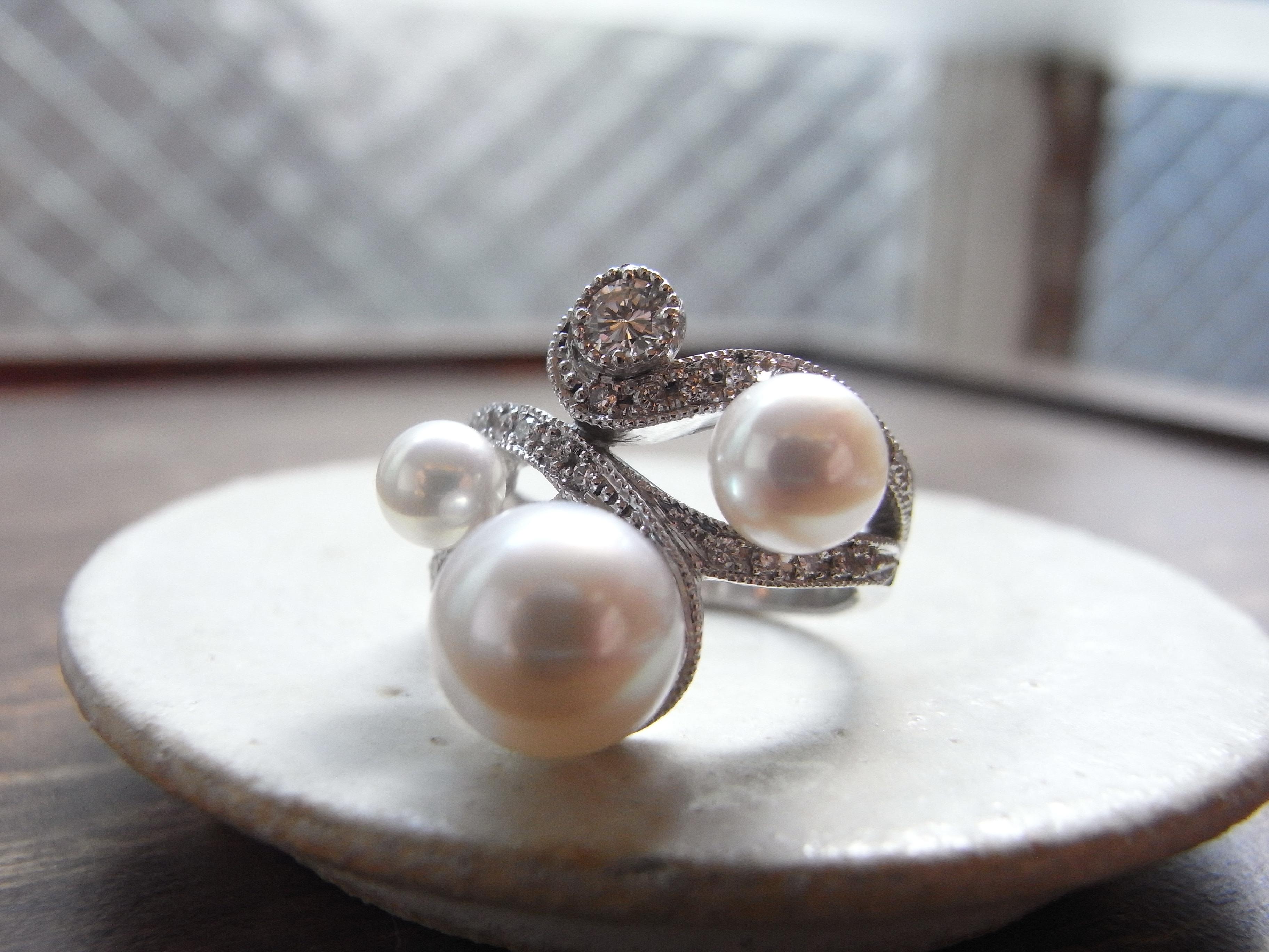 真珠 リフォーム 指輪