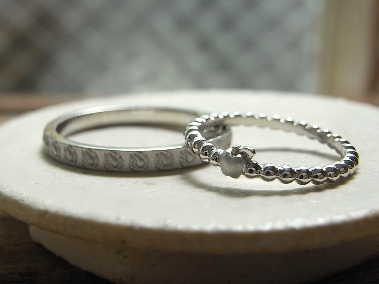 りんご 結婚指輪
