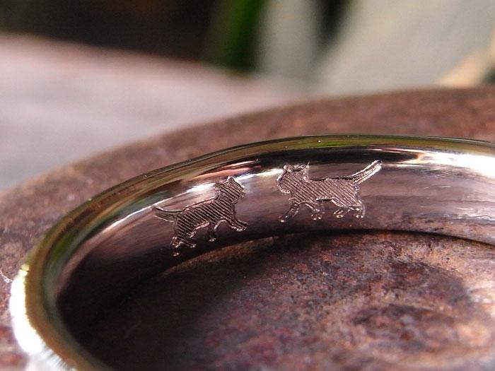 猫 指輪 刻印