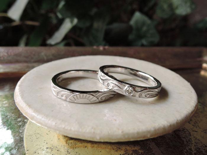 結婚指輪 太陽 月