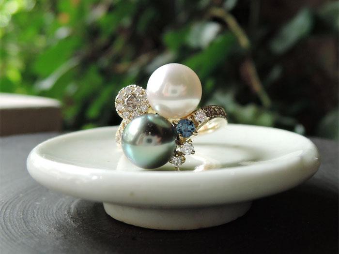 真珠 オーダー 指輪