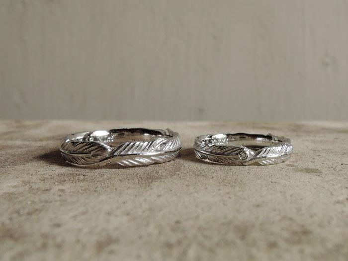 羽根 結婚指輪